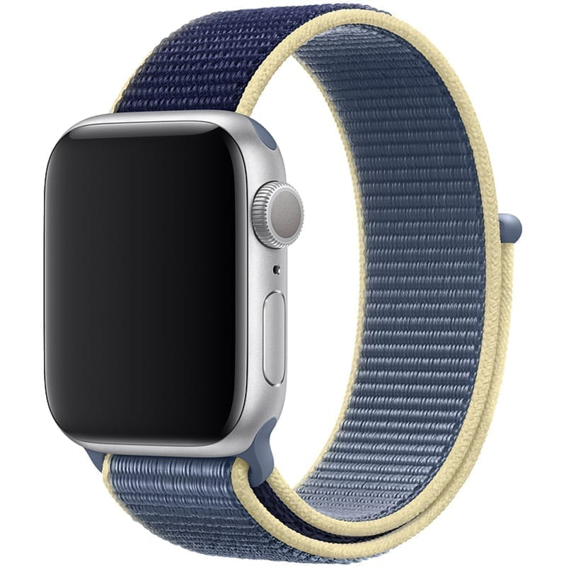 Voorzijde Nylon Apple Watch Band Exhibit Alaska Blauw