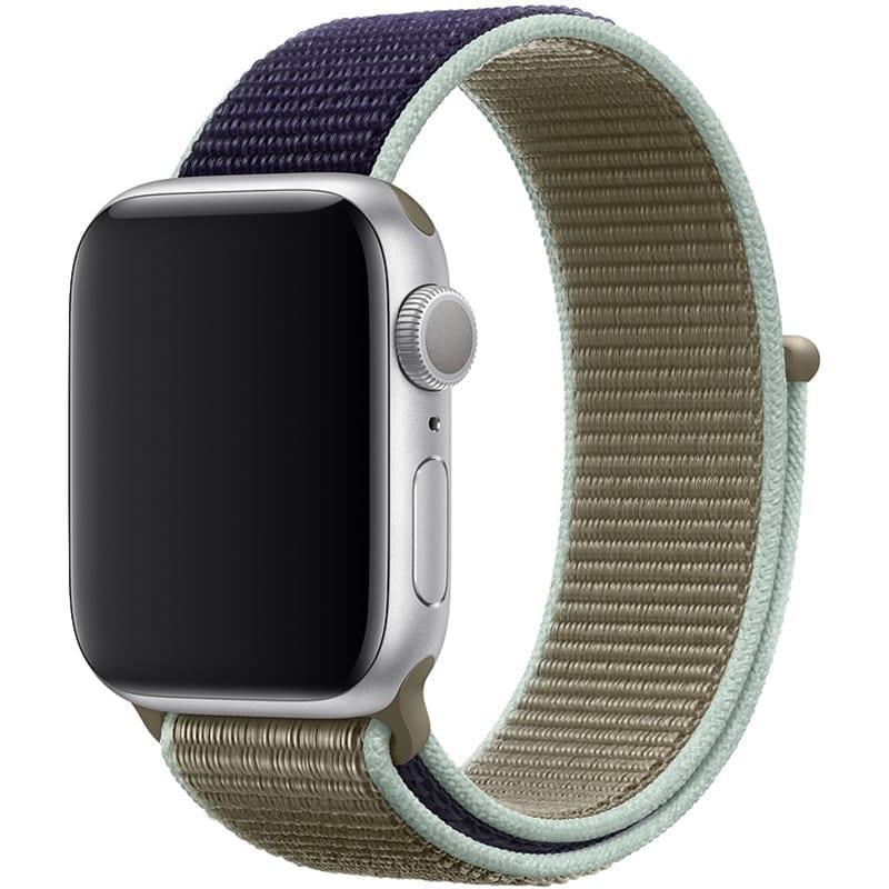 Voorzijde Nylon Apple Watch Band Exhibit Kaki