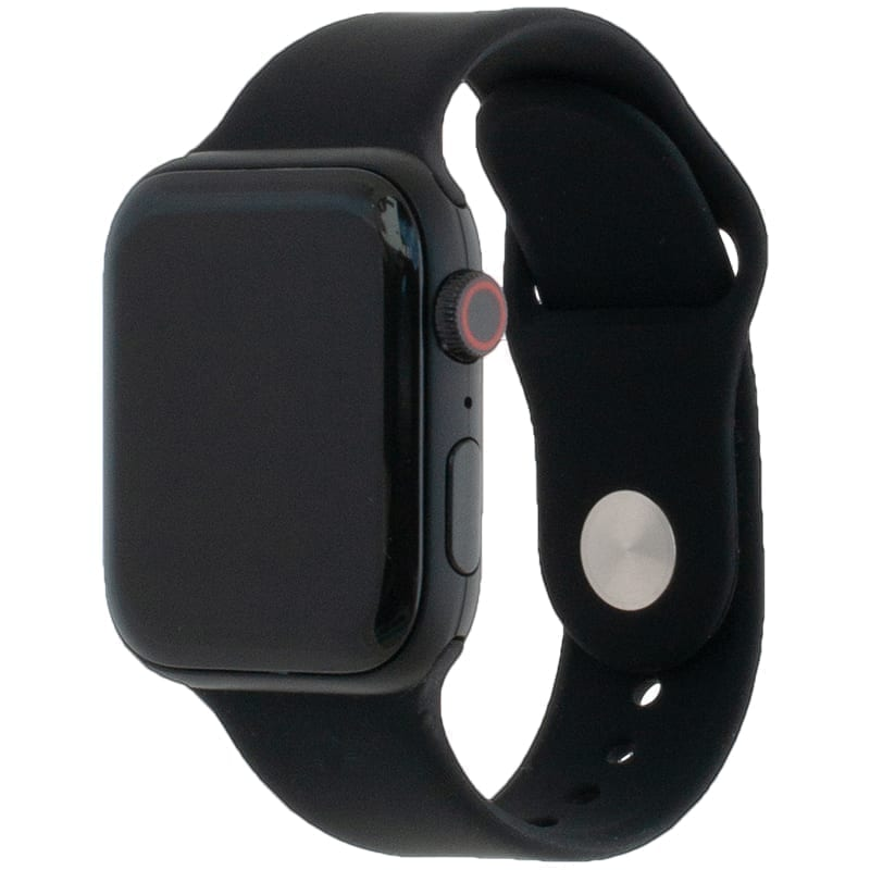 Voorzijde van de Apple Watch Band Frolic Sportband Zwart