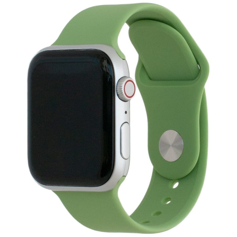 Voorzijde van de Apple Watch Band Frolic Sportband Munt Groen