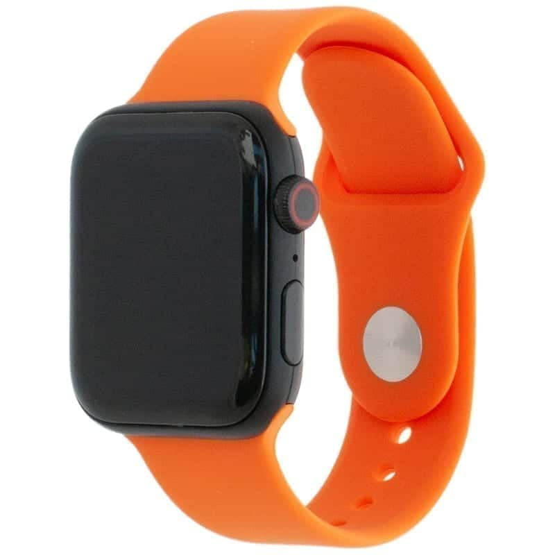 Voorzijde van de Apple Watch Band Frolic Sportband Oranje