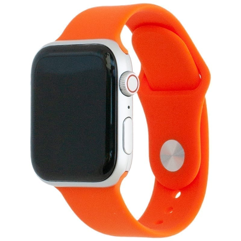 Voorzijde van de Apple Watch Band Frolic Sportband Oranje Rood