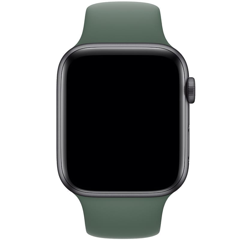 Voorzijde van de Apple Watch Band Frolic Sportband Dennengroen