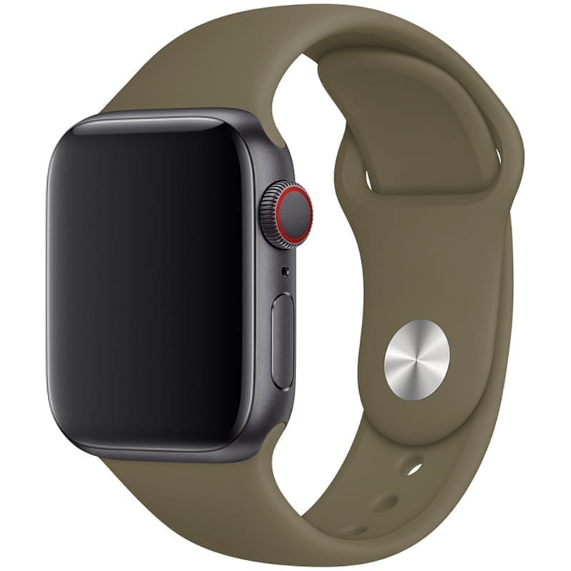 Vooraanzicht van Apple Watch Sport Band Frolic Kaki
