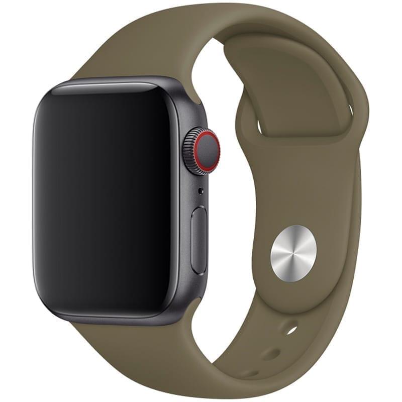 Vooraanzicht van Apple Watch Sport Band Frolic Kaki