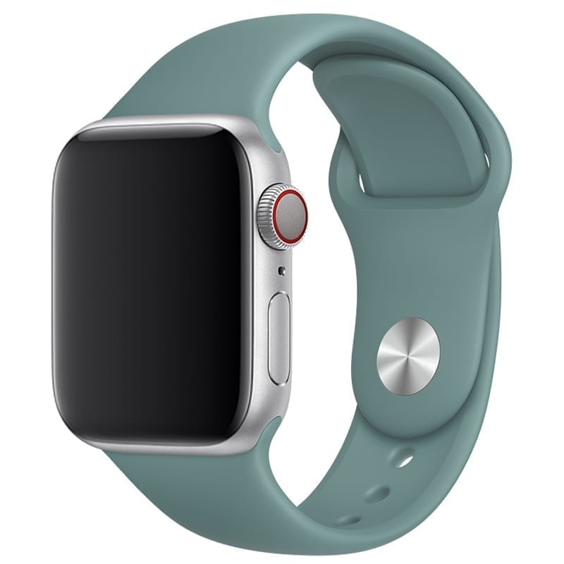 Vooraanzicht van de Apple Watch Sport Band Frolic Cactus