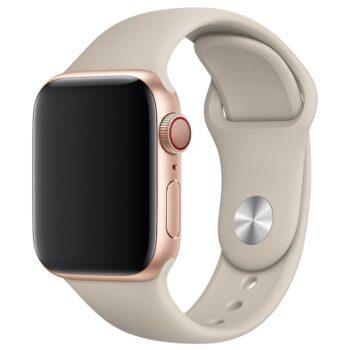 Vooraanzicht van de Apple Watch Sport Band Frolic Steengrijs