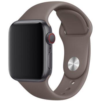 Vooraanzicht van de Apple Watch Sport Band Frolic Noordzeegrijs