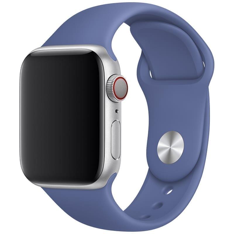 Vooraanzicht van de Apple Watch Sport Band Frolic Linnenblauw