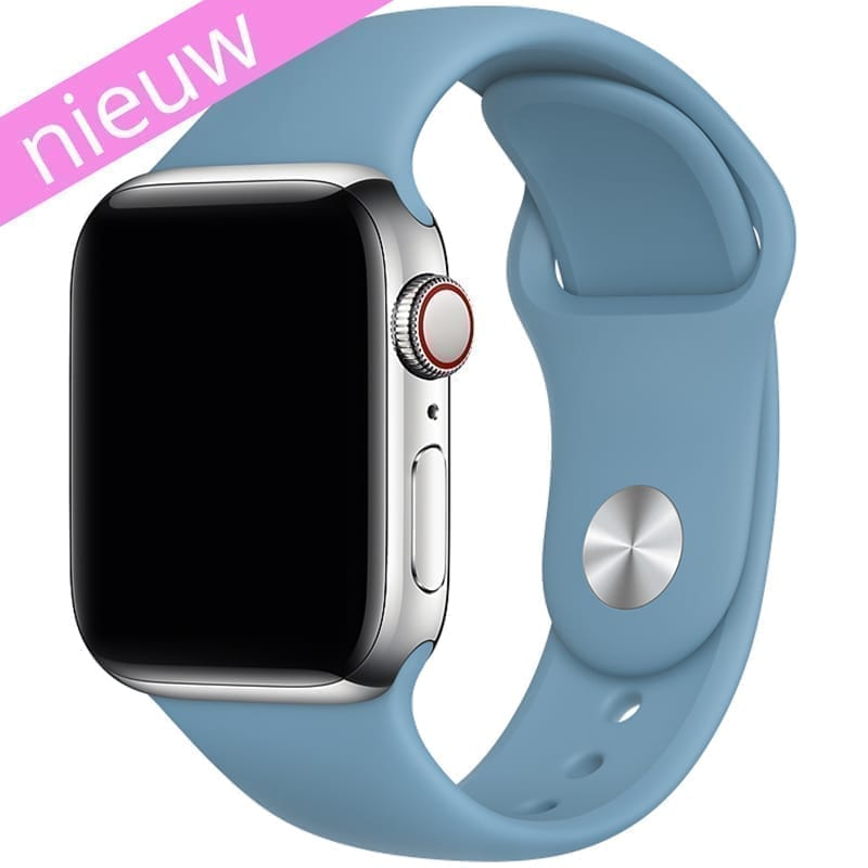 Vooraanzicht van de Apple Watch Sport Band Frolic Korenbloem