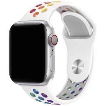 Vooraanzicht van het Apple Watch Sportbandje Athletic Pride